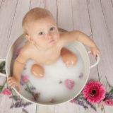 La magie d'une séance bain de lait!